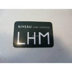Autocollant niveau LHM