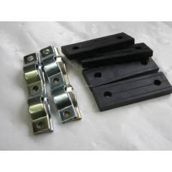 Kit de 8 pieces pour fixation pots AR en Acier-SM